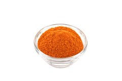 Chili Powder In Glass Bowl Royalty Free Stock Image