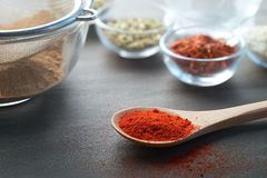 Chili Powder and Other Ingredient Royalty Free Stock Image