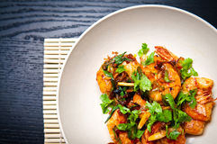 Chili prawns Stock Images