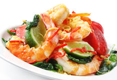 Chili Prawns stock photos