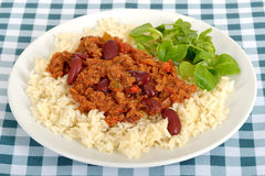 Chili przeciw Carne na talerzu Obraz Stock