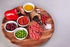 Chili przeciwu Carne przepis fotografia stock