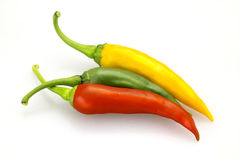 Chili. Red green and yellow peppers Royalty Free Stock Photo