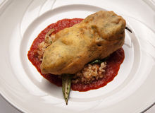 Chili Relleno Stock Photography