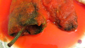 Chili Rellenos Mexican Food stock footage