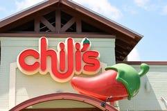 Chili restauracja Zdjęcia Royalty Free