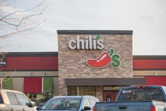 Chili`s Restaurant Exterior. Chili`s Grill & Bar is an casual dining restaurant chain with locations in the United States, Canada,. Philadelphia, Pennsylvania Stock Images