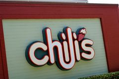 Chilis Restaurant Sign Royalty Free Stock Photos