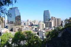 chili Santiago doet Chili Stock Afbeeldingen