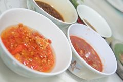 Chili sauce Stock Photos