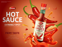 Chili sauce ad Stock Photos