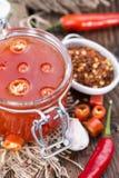 Chili Sauce hecho en casa Fotografía de archivo