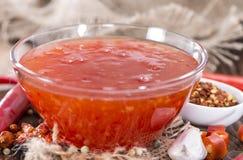 Chili Sauce hecho en casa Foto de archivo libre de regalías
