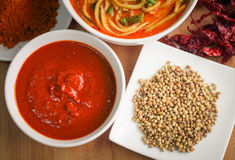 Chili sauce with ingredients Royalty Free Stock Image