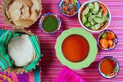 Chili sauce pico de gallo mexican spices Stock Image