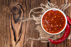 Chili Sauce (sambal Oelek) fotografia de stock royalty free