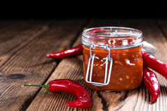 Chili Sauce (Sambal Oelek) Stock Images