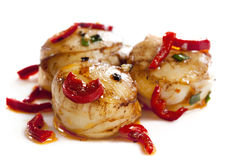 Chili Scallops stock photos