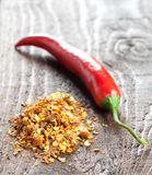 Chili Seeds And Chili Stock Images
