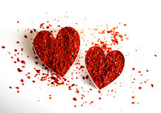 chili serc gorąca czerwień Zdjęcia Royalty Free