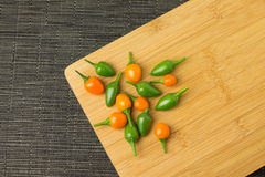Chili. Several colorful and spicy little chilis capsicum royalty free stock image