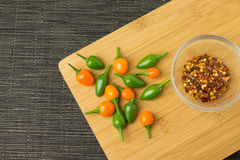 Chili. Several colorful and spicy little chilis capsicum royalty free stock photos
