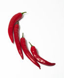 Chili shape with peppers Stock Photography