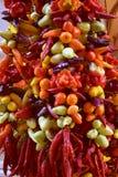 Chili, sharp, colorful and manifold Stock Photography