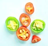 Chili Slice piccante verde Fotografia Stock