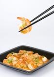 chili sosu scallion krewetki obraz stock
