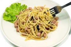 Chili Spaghetti Lizenzfreie Stockfotografie