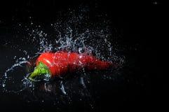Chili splash Stock Photos