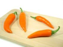 Chili sporrar peppar royaltyfri foto