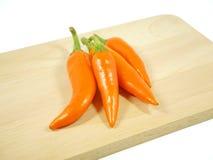 Chili sporrar peppar arkivfoto