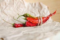 chili suszący pieprz Zdjęcia Stock