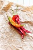 chili suszący pieprz Zdjęcie Royalty Free