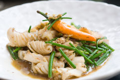 chili szczypiorków karmowa kałamarnica tajlandzka Zdjęcie Royalty Free