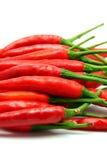chili tła pieprzony czerwony white Zdjęcia Stock