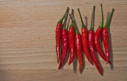 A Thai chili, It`s Hot, Spicy but is good for health and keep food more delicious. This Chili from Thailand, It`s a main ingredients for Thai Food, It make food Royalty Free Stock Photos