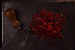 Chili Threads amarra linhas Fotos de Stock Royalty Free
