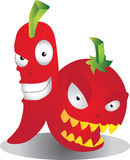 Chili and Tomato Royalty Free Stock Image