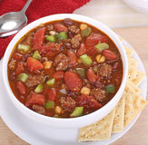 Chili with Tomato and Peppers Stock Photography