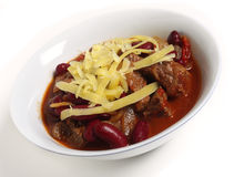 Chili topped with cheese Royalty Free Stock Photo