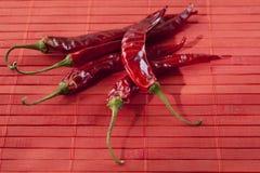 chili torkade peppar Royaltyfri Foto