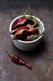 chili torkade peppar Royaltyfri Bild