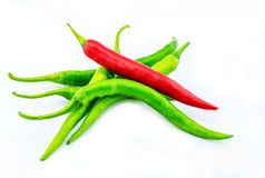 Chili white background Stock Images