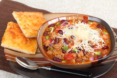Chili With Melted Cheese Royalty Free Stock Photo
