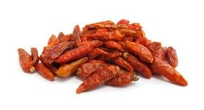 chili wysuszeni papryki pieprze obrazy stock