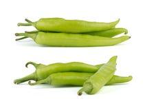 Chili zieleni pieprze Zdjęcia Stock