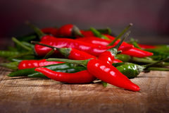 chili zielonego pieprzu czerwień Obraz Stock